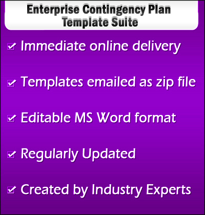 Enterprise Contingency Plan Template
