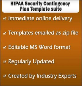 HIPAA Security Contingency Plan Template