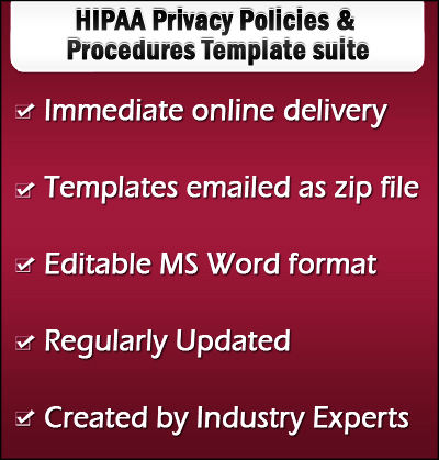 HIPAA Privacy Policies Templates - Online store policies template