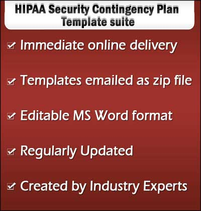 HIPAA Security Contingency Plan Templates Samples