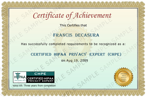Chpe 3g sample of chpe certificate yelopaper Gallery