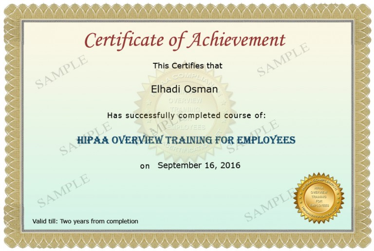 Research Organization Certificate Sample