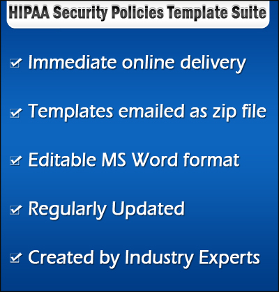 hipaa security policies template suite