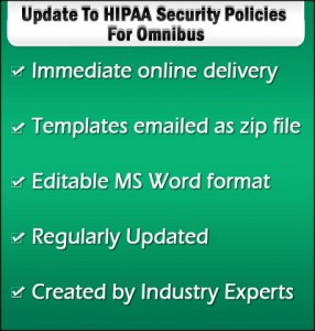 HIPAA Security Policies for Omnibus